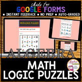 Algebra 1 Distance Learning Math Logic Puzzles (Google Forms)