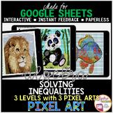 Algebra 1 Distance Learning Solving Inequalities PIXEL ART
