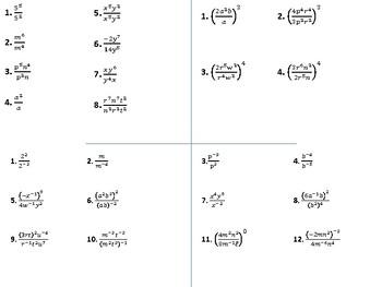 math worksheet : algebra 1  division properties of exponents  foldable by  : Division Properties Of Exponents Worksheet