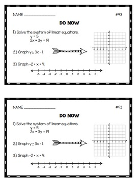 Algebra 1 Do Nows: Volume 2