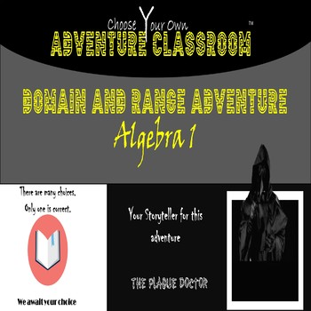 Algebra 1: Domain and Range  | Choose Your Own Adventure Classroom
