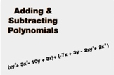 "Algebra 1: (EE.11) ""Adding & Subtracting Polynomials"" Prezi/iPad Lesson"