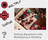 "Algebra 1: (EE.2) ""Solving Equations w/ Multiplying&Dividing"" Prezi/iPad Lesson"