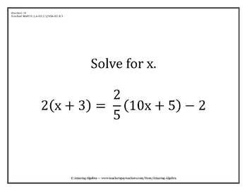 Algebra 1 EOC Challenge