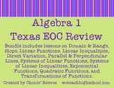 Algebra 1 EOC Review Bundle