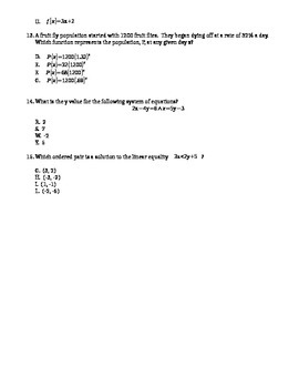 Algebra 1 EOC Review B
