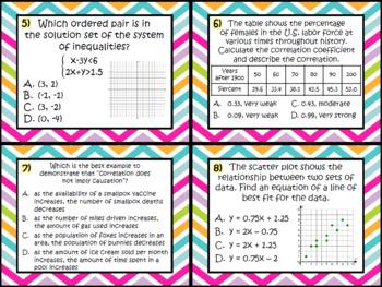 Algebra 1 EOC Review Bundle