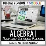 Algebra 1 EOC Review: Escape Room Activity: DIGITAL VERSION (for Google Slides™)
