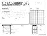 Algebra 1 EOC Review - Linear Functions