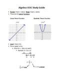 Algebra 1 EOC Study Guide