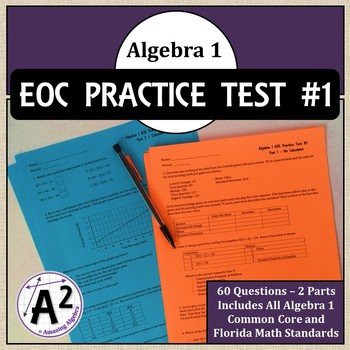 Algebra 1 EOC and FSA Practice Test #1