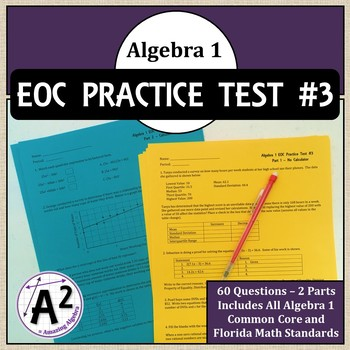 Algebra 1 EOC and FSA Practice Test #3