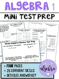 Algebra 1 - End of Course / Year EOC Mini Test Prep PARCC Review