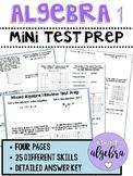 Algebra 1 - End of Course / Year EOC Mini Test Prep PARCC Review