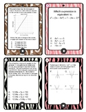 Algebra 1 End of Course Review with Answers