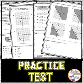 Algebra 1 End of Course Standardized Test Prep