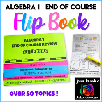 Algebra 1 EOC Review Flip Book plus STAAR™ version