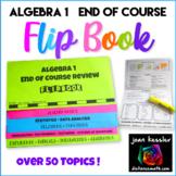 Algebra 1 End of Year Review Packet Flip Book plus STAAR™ version