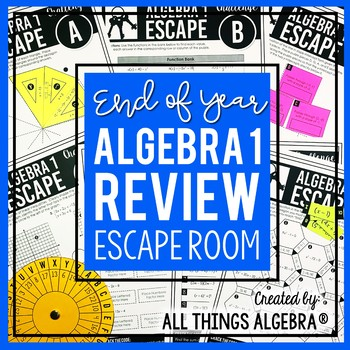 Algebra 1 End of Year EOC Review - Escape Room Activity
