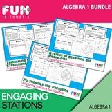Algebra 1 Engaging Stations Bundle