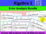 Algebra 1 Error Analysis Bundle