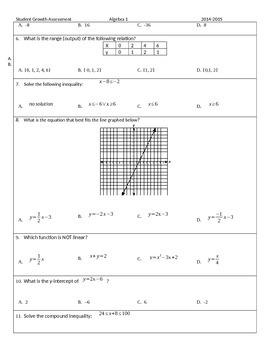 Algebra 1 Exam