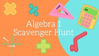 Algebra 1 Exam Review Scavenger Hunt!