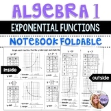 Algebra 1 - Using and Graphing Exponential Functions - Foldable
