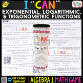Algebra 1 Exponential, Logarithmic, and Trigonometric Functions
