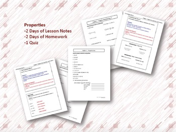 Expressions, Equations, and Functions Lesson Plan Bundle