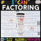 Algebra 1 Factoring Quadratics Game