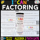 Algebra 1 Factoring Quadratics Game