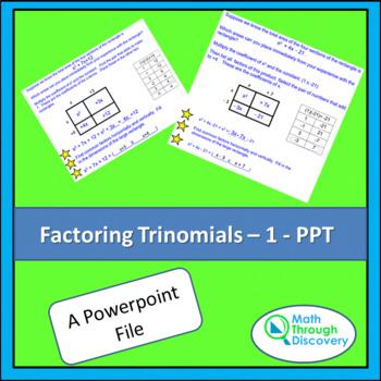 Factoring Trinomials - 1 - PPT