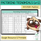 Algebra 1 Factoring Trinomials a>1 Digital Self-Checking Activity