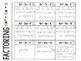 Algebra 1 - Factoring Trinomials ax^2 + bx + c Foldable