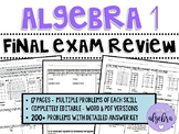 Algebra 1 - Final Exam Benchmark End of Year EOC Spiral Review Packet