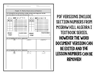 Algebra 1 - Final Exam Benchmark End of Year EOC Spiral ...