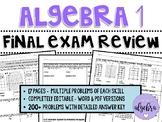 Algebra 1 - Final Exam Benchmark End of Year EOC Spiral Re