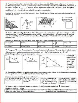 Algebra 1 Final Exam Review Study Guide: Fall 2009