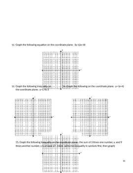 Algebra 1 Common Core Final Exam Reteach and Review End of year review