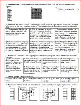 Algebra 1 Final Exam Study Guide Fall 2010 (Editable)