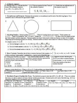 Algebra 1 Final Exam Study Guide Fall 2011 (Editable)
