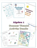 Back to School Math Activity Bundle Algebra 1 Review
