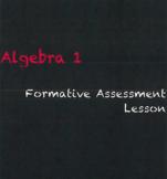Algebra 1 - Formative Assessment Lesson