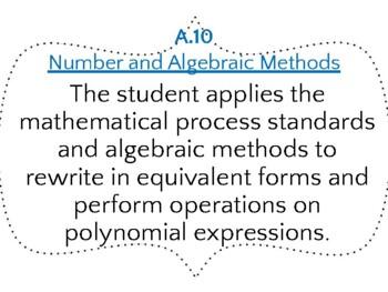 """Algebra 1 Framing the Lesson """"I Can..."""" TEKS"""