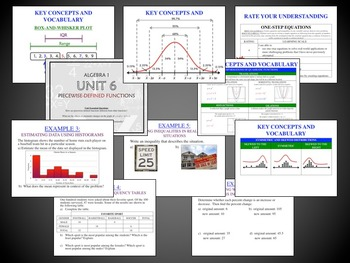 Algebra 1 Full Year (Editable) Guided Notes