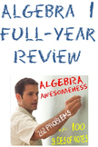 Algebra 1 Full-Year Review: 16 Worksheets of Final Exam Review