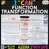 Algebra 1 Function Transformations Game | Algebra 1 Review