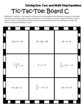 Algebra Games {Algebra 1 Games} {Algebra 1 Solving Equations Partner Activity}