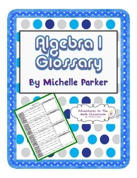 Algebra 1 Glossary (Student Centered)